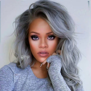 Gray Wigs Lace Frontalal Wigs whitish blonde hair