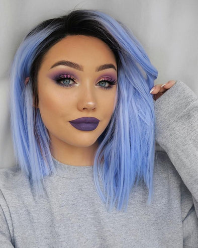 Blue Wigs Lace Front Hair Sky Wigs