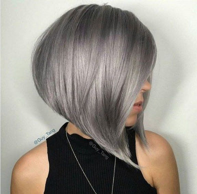 Gray Hair Wigs For African American Women Redhead Wig Lace Front Wigs With Bangs Gray Hair 180 Pre Plucked Closure Ginger Lace Front Wig