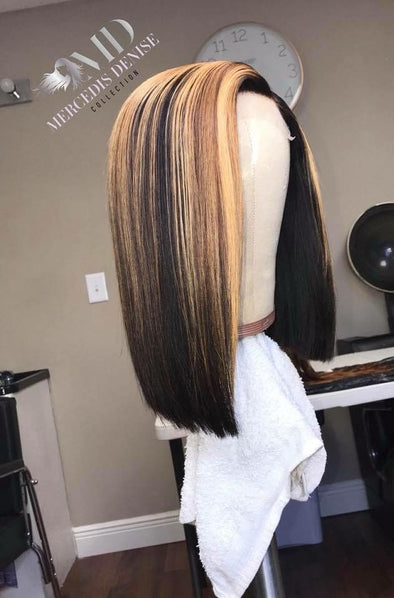 Black Lace Frontal Wig Overtone On Dark Hair