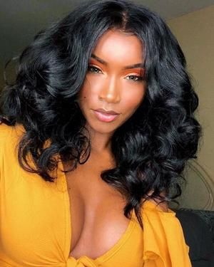 Black Lace Frontal Wig Cute Wig For Black Ladies