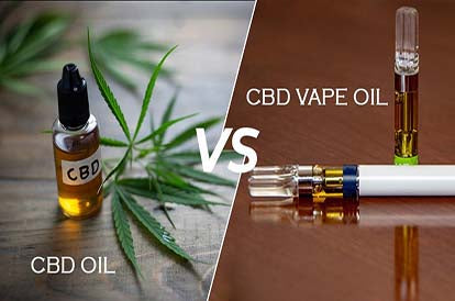 CBD Vapes vs CBD Oil Tincture