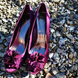 fuschia statement heels