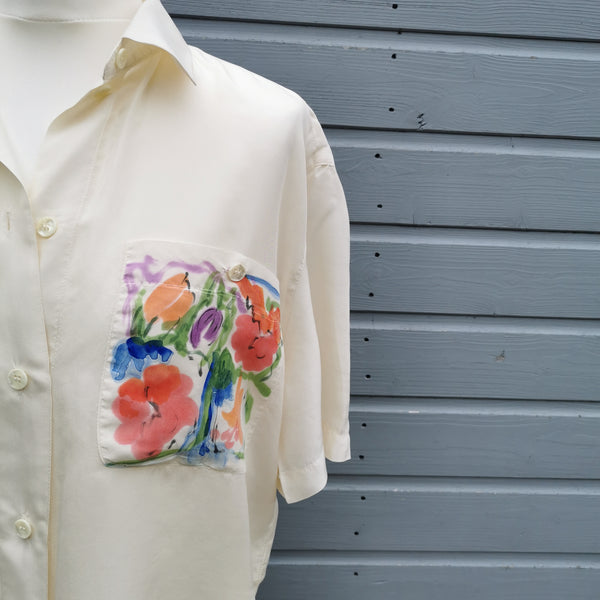 betty barclay pyjama style silk shirt