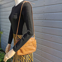 vintage tan leather/suede bag