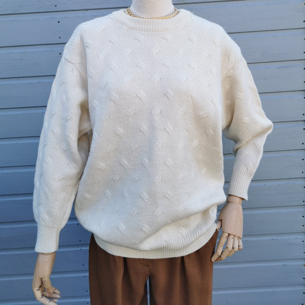 vintage cableknit sweater
