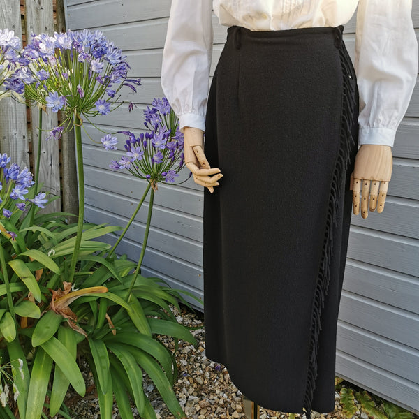 vintage cashmere mix blanket skirt