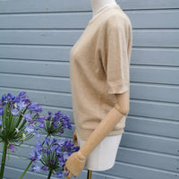 camel knitted tee