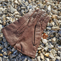 vintage mocha leather gloves