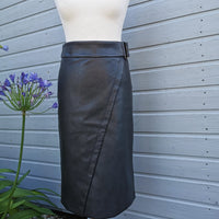 biba vegan leather skirt