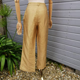 lene sand silk trousers