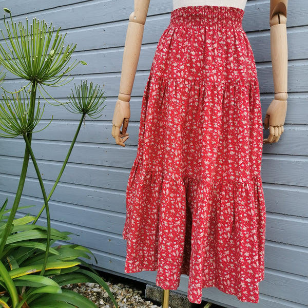 vintage laura ashley tiered skirt.