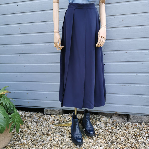 vintage deconstructed pleated skirt