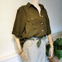 vintage military style shirt