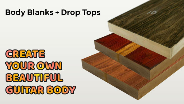 Guitar Body Blanks With Book Matched Drop Tops