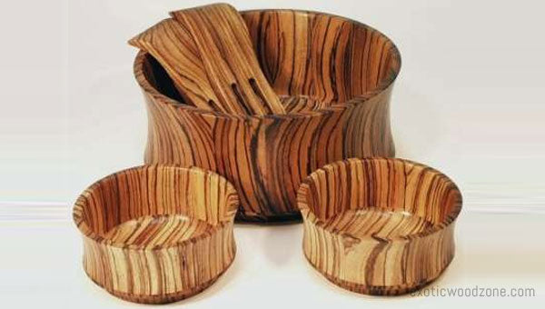 Bowl Made With Zebrawood