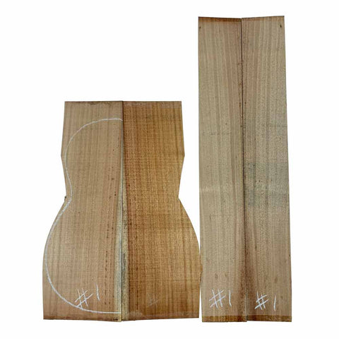 Acacia Classical Guitar Back & Side Set #01 With Free Shipping - Exotic Wood Zone