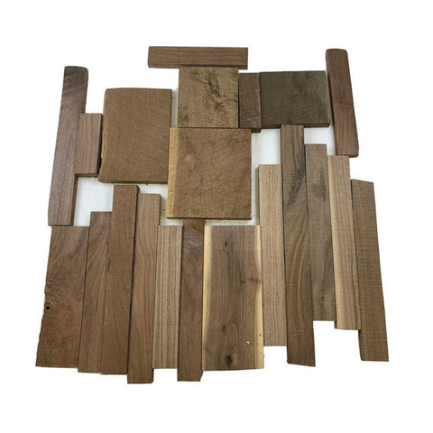"15 Pound Box of American Black Walnut Wood Cut-Offs - 3/4""-1"" Thick pieces - Exotic Wood Zone"
