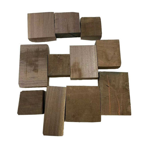 "15 Pound Box of Assorted American Black Walnut Wood Cut-Offs Bowl Blanks -2"" Thick pieces - Exotic Wood Zone"