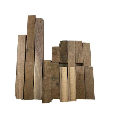 "15 Pound Box of American Black Walnut Wood Cut-Offs -2"" Thick pieces - Exotic Wood Zone"