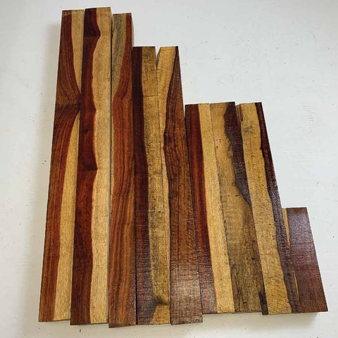Exotic Granadillo Large Cutoffs, 1 Inch Thick Pieces 19 Lbs Free Shipping - Exotic Wood Zone