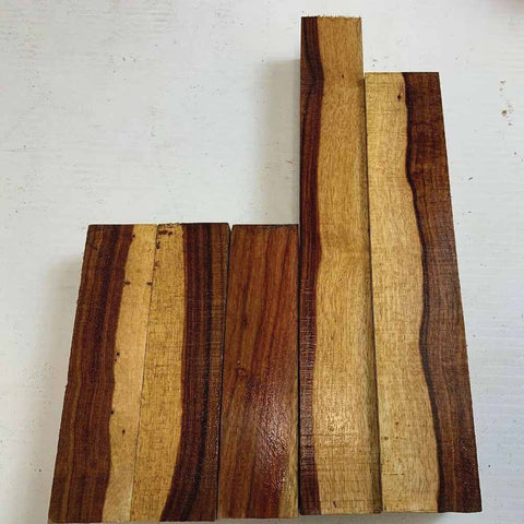 Exotic Granadillo Small Cutoffs, 1 Inch Thick Pieces 4 Lbs Free Shipping - Exotic Wood Zone