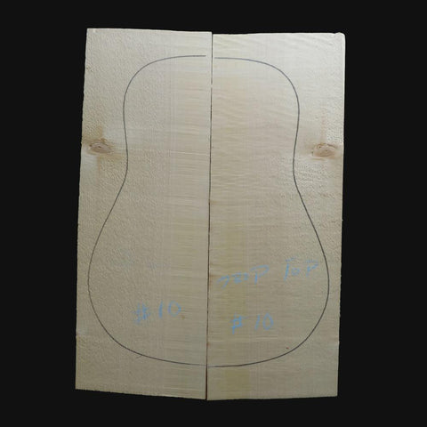 Engelmann Spruce Steel String Guitar Tops AAA #10 With Free Shipping - Exotic Wood Zone