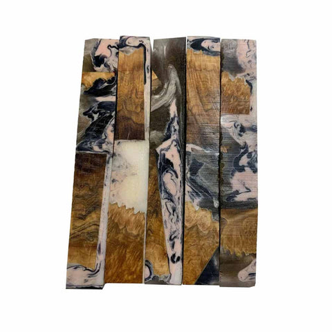 "Premium Stabilized Brown Mallee Hybrid Burl Pen Blank #605, 3/4"" x 3/4"" x 5"" Free Shipping - Exotic Wood Zone"