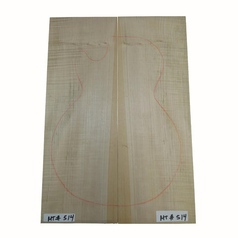 Flame Maple Carved-Solid Body Top for Electric Guitar #MT514 Free Shipping - Exotic Wood Zone