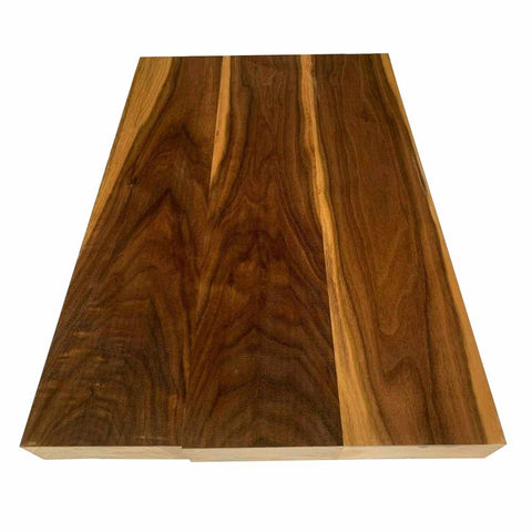 Figured Black Walnut Guitar Body Blanks 3 Piece Glued 21″x 14″x 2″ - Exotic Wood Zone