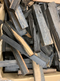 "Box of Exotic Gaboon Ebony Wood Cutoffs with Length 12""-18"" (Lot#01) - Exotic Wood Zone"