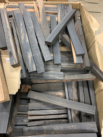 "Box of Exotic Gaboon Ebony Wood Cutoffs with Length 12""-15"" (Lot#02) - Exotic Wood Zone"