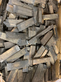 "Box of Exotic Gaboon Ebony Wood Cutoffs with Size 7-1/4"" x 1/2"" x 2"" (Lot#04) - Exotic Wood Zone"