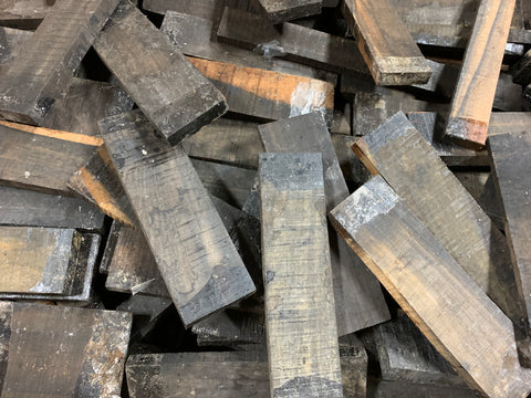 "Box of Exotic Gaboon Ebony Wood Cutoffs with Size 7"" x 2"" x 1/2"" (Lot#05) - Exotic Wood Zone"