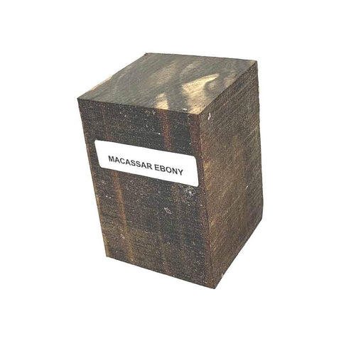 Macassar Ebony Bottle Stopper Blanks - Exotic Wood Zone