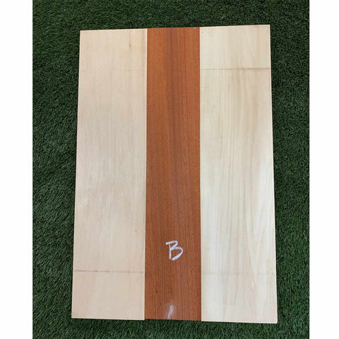 Padauk & Basswood Guitar Body Blanks- 3 Glued Piece - Exotic Wood Zone