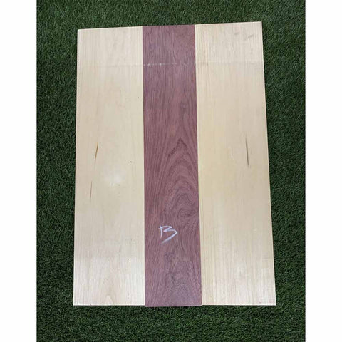 Purpleheart & Basswood Guitar Body Blanks- 3 Glued Piece - Exotic Wood Zone