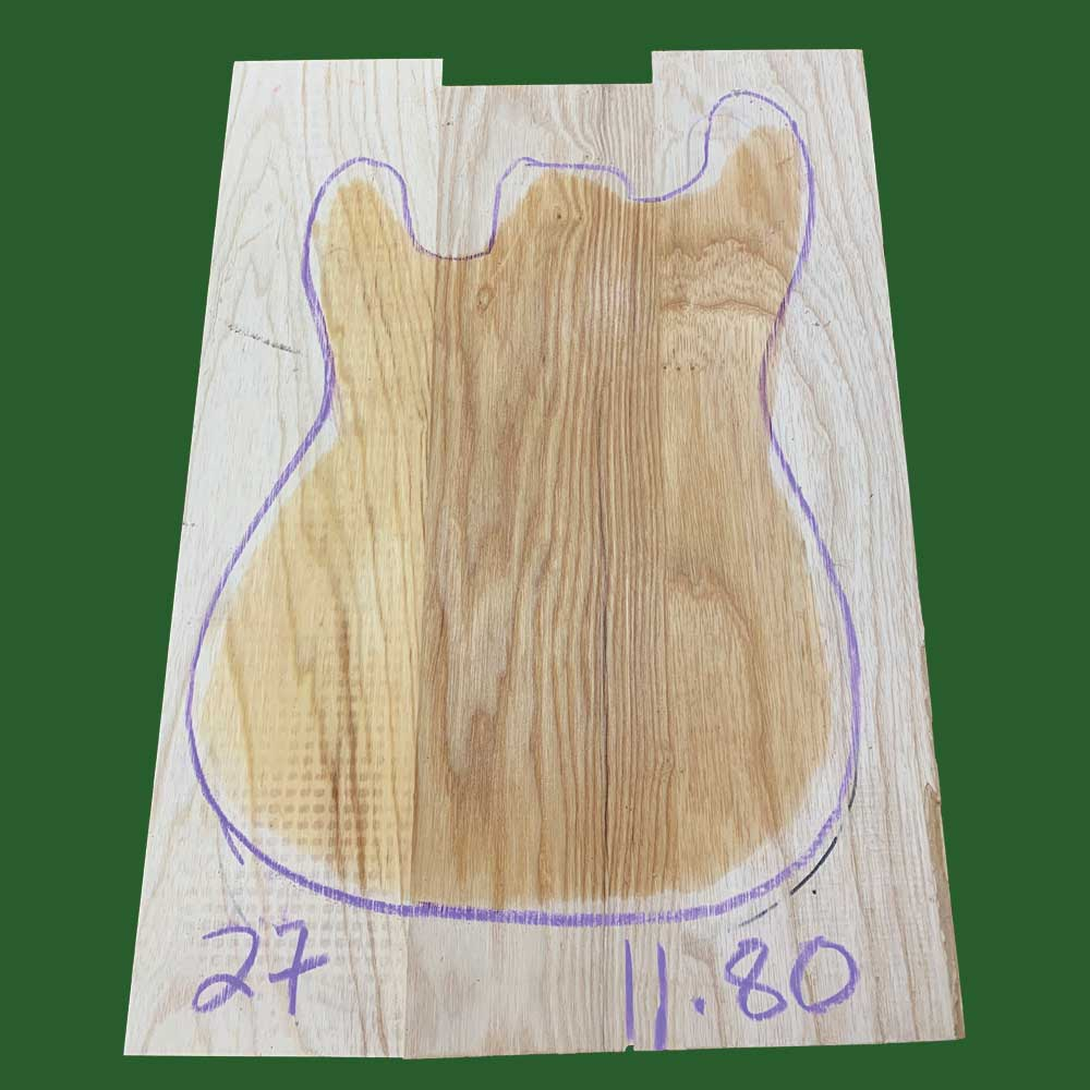 Swamp Ash Guitar Body Blanks- 3 Piece Joined - Exotic Wood Zone