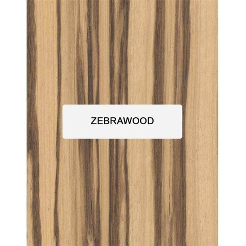Zebrawood Guitar Bridge Blanks - Exotic Wood Zone