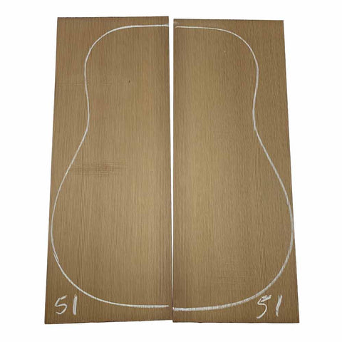 Western Red Cedar Dreadnought/Steel String Guitar Tops #51 With Free Shipping - Exotic Wood Zone