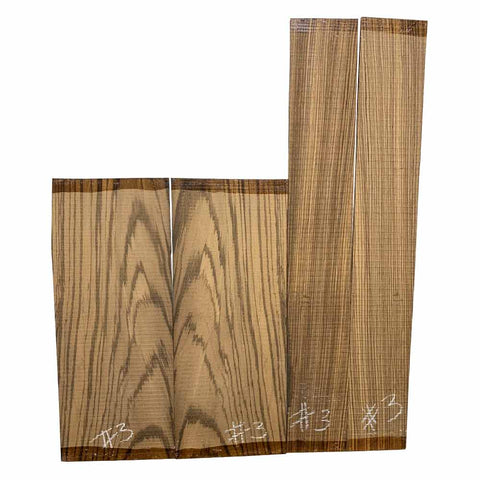 Zebrawood Dreadnought Guitar Back & Side Set #03 - Exotic Wood Zone