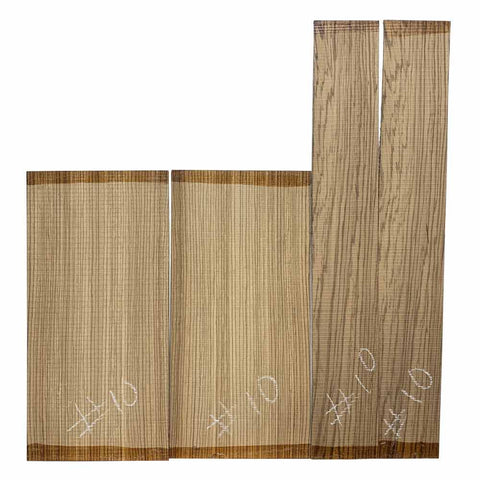 Zebrawood Dreadnought Guitar Back & Side Set #10 - Exotic Wood Zone