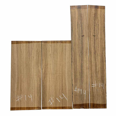 Zebrawood Dreadnought Guitar Back & Side Set #14 - Exotic Wood Zone
