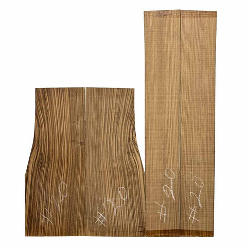 Zebrawood Dreadnought Guitar Back & Side Set #20 - Exotic Wood Zone