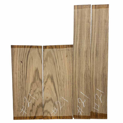 Zebrawood Dreadnought Guitar Back & Side Set #21 - Exotic Wood Zone