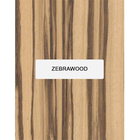Zebrawood Guitar Fingerboard Blank - Exotic Wood Zone