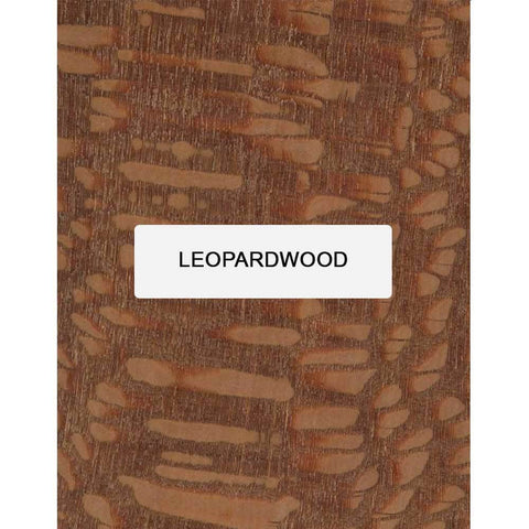Leopardwood Guitar Bridge Blanks - Exotic Wood Zone