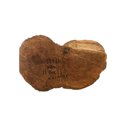 Yellow Box Burls #12, 19.5 x 13 x 3.5 inches, 13.4 lbs Free Shipping - Exotic Wood Zone