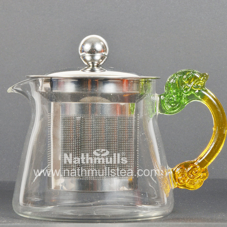 PYRAMID TEA POT WITH STEEL INFUSER
