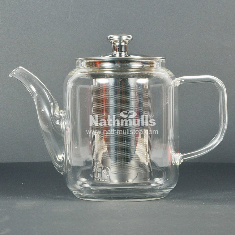 CLASSIC STILT GLASS TEA POT WITH STEEL INFUSER